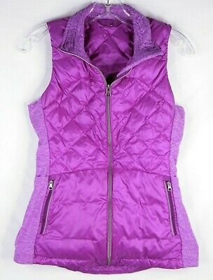 Lululemon Athletica Down For A Run Goose Down Violet Puffer Vest Women's Size 6