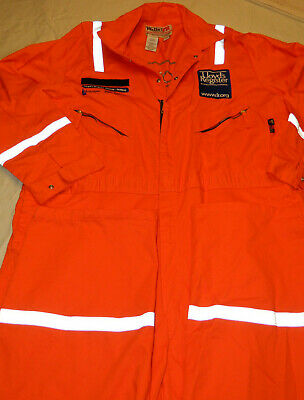 Walls Fr Coveralls Size 54r Reflective Safety Orange Fire Resistant Non-insulate