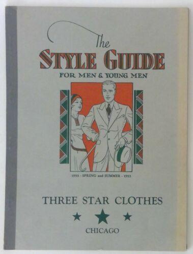 Vintage 1933 Three Star Clothes Men