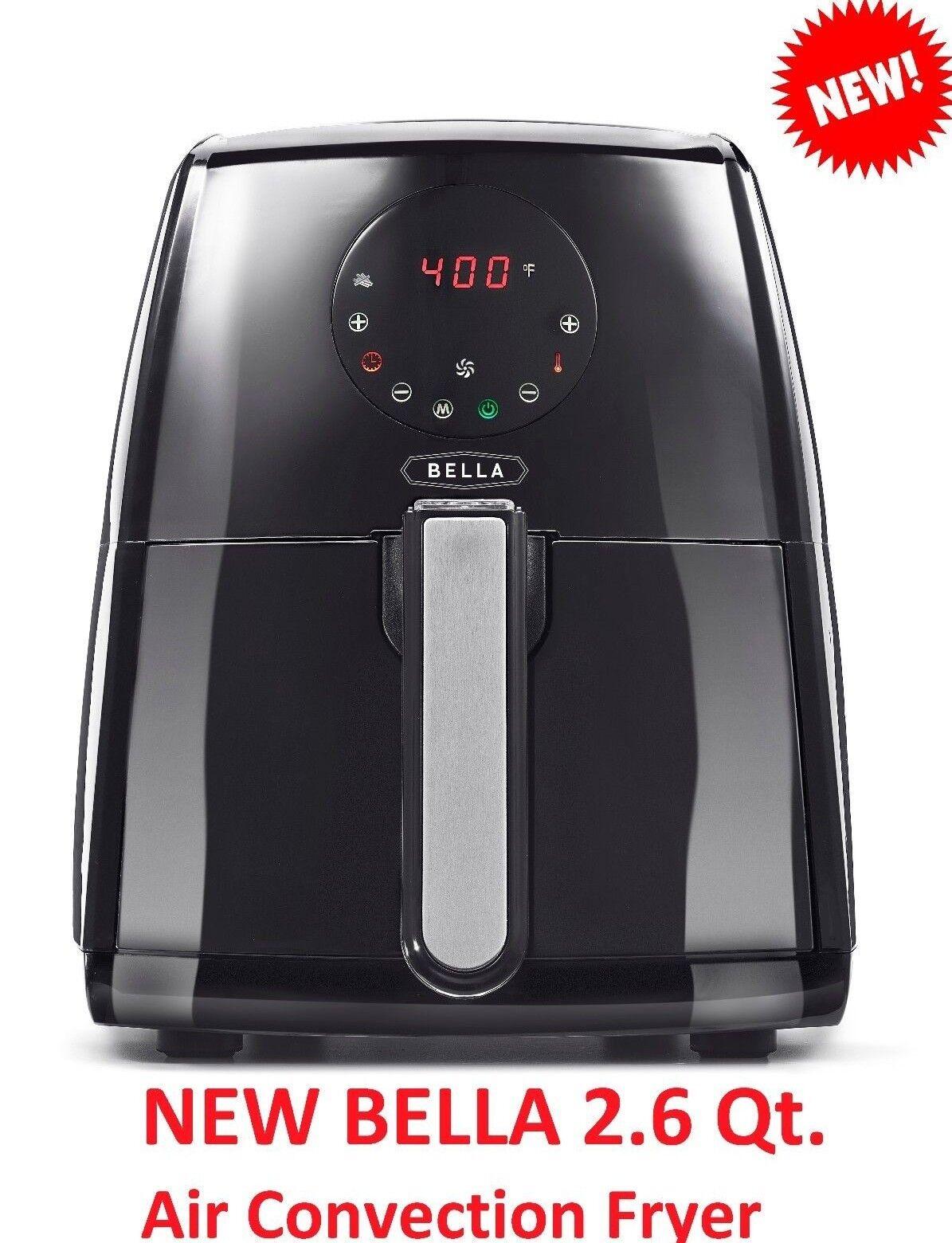 NEW !!!  BELLA 2.6 Qt  Air Convection Fryer Touchscreen  Mod