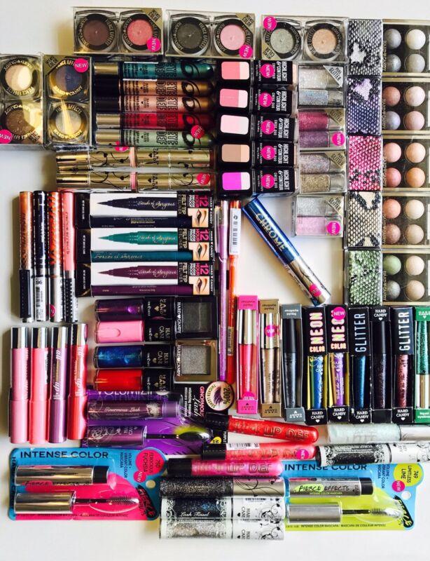 50 pc Hard Candy Makeup WHOLESALE LOT !! Lips Nails Eyes Face !! NO DUPLICATES!