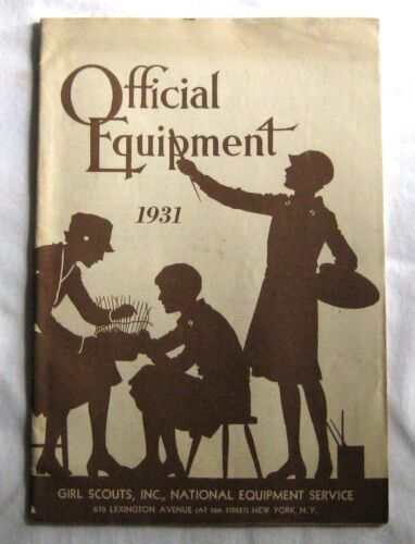 OLD Vintage Girl Scout 1931 EQUIPMENT CATALOG Book Official Uniform Jewelry