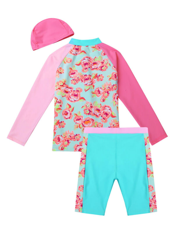 6b9450078c8fd Kids Girls UV 50+ Sun Safe Swimsuit Swimwear Baby Surf Diving Swimming  Costume. Set Include: 1Pc Swim Tops, 1Pc Bottoms Condition: New with tag