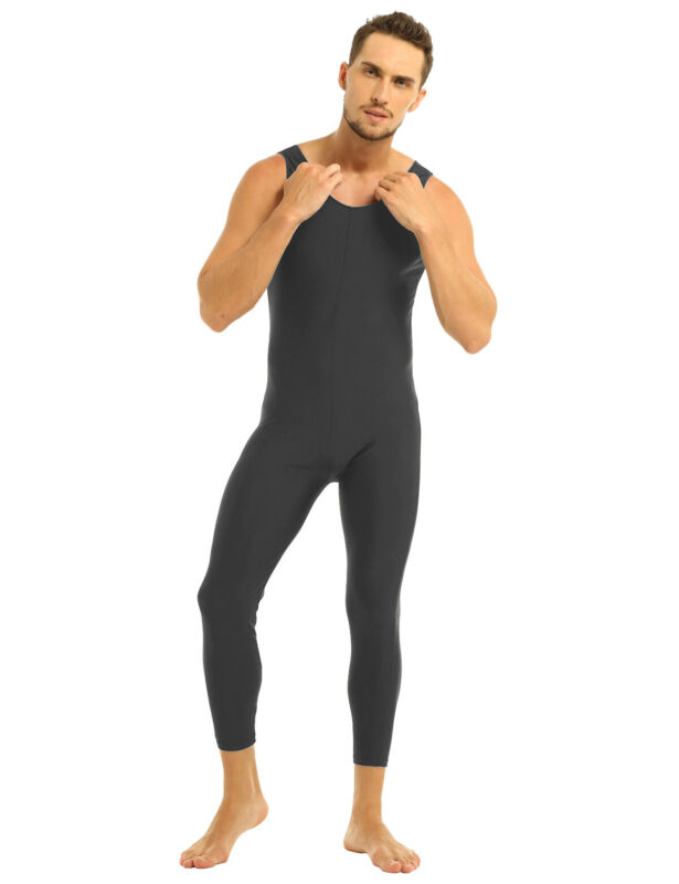 US Men Adults Bodysuit Underwear Leotard Wrestling Singlet Jumpsuit Vest Unitard