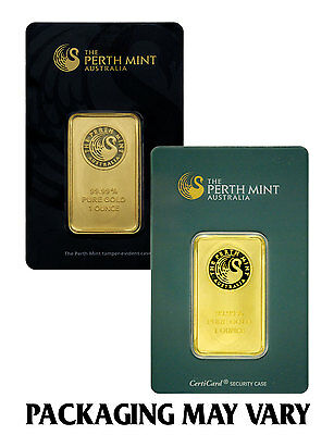 Perth Mint Australia 1 Oz  Gold Bar   Sealed W Assay Cert  Sku27278