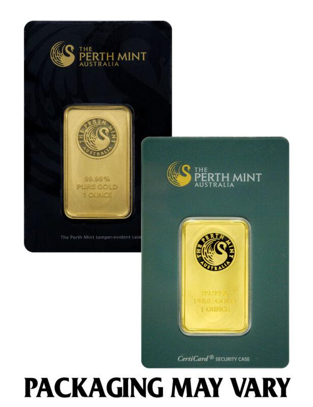 Perth Mint Australia 1 oz. .9999 Fine Gold Bar - Sealed w/Assay Cert. SKU27278
