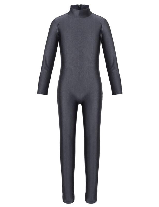 YOOJIA Kids Boys Long Sleeve Full Body Unitard Gymnastics Leotard Ballet Dance Bodysuit Jumpsuit Spandex Zentai Costumes