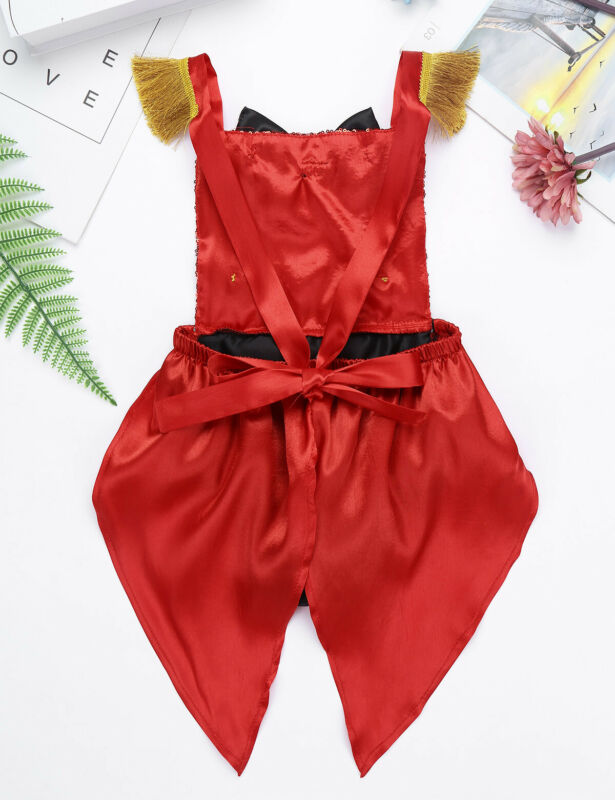 iEFiEL Toddler Baby Girls Show Costume Romper Halloween Ringmaster Circus Cosplay Christmas Birthday Party Outfit