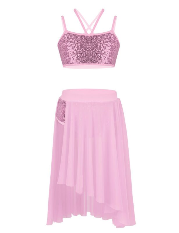 c6118240d77a Set Include: 1Pc Crop Top, 1Pc Skirt Condition: New with tag. Material:  Polyester, Spandex, Sequins, Tulle Color: Multicolor(as pictures show)