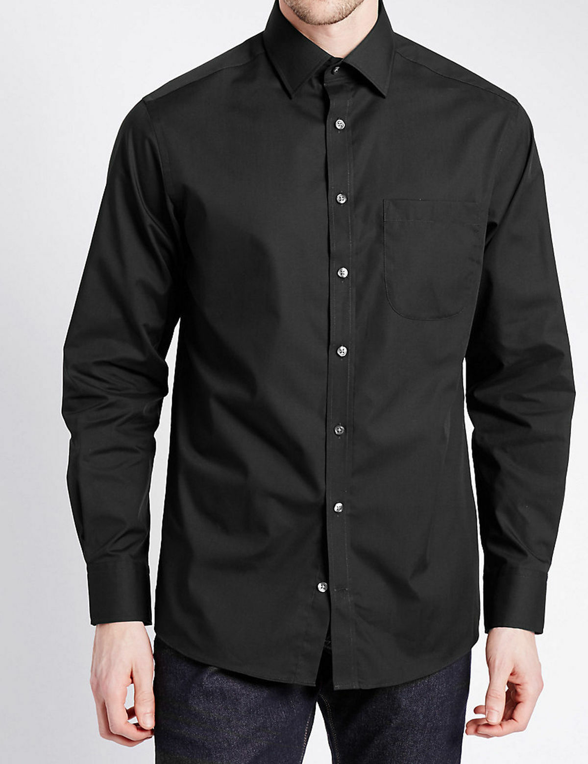 Cotton Rich Classic Collar Shirt