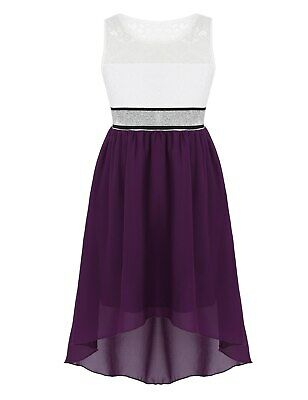 New Princess Party Purple and White Flower Girl Dresses Wedding Kids Clothes](White And Purple Flower Girl Dresses)
