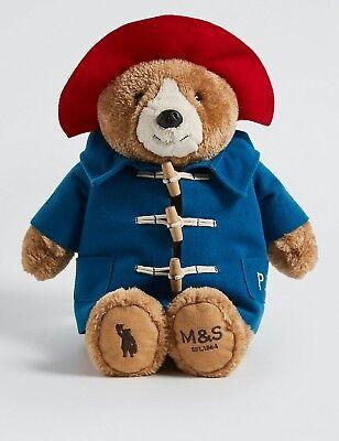 M&S CHRISTMAS XMAS ADVERT PADDINGTON BEAR PLUSH TOY LONDON MARKS AND SPENCER