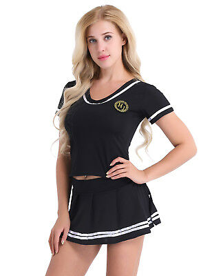 Damen Cheerleader Cosplay Outfits Schulmädchen Sailor Kostüm Fasching Party - Kleines Mädchen Sailor Kostüm