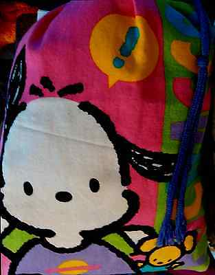 SANRIO HELLO KITTY *POCHACCO DRAWSTRING BAG* Cotton medium size vintage 1994