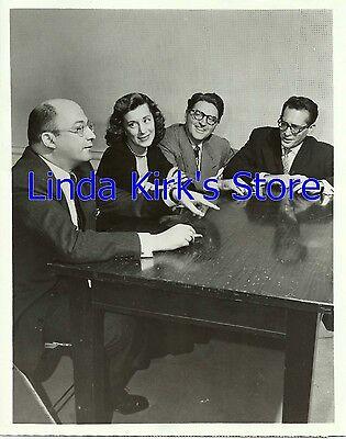 Abe Burrows, Joan Alexander, Meredith Willson & Robert Q Lewis Photograph ABC-TV