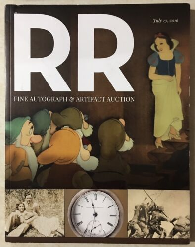 RR AUCTION CATALOG ENTERTAINMENT ART SPACE POP CULTURE HISTORICAL SNOW WHITE CVR