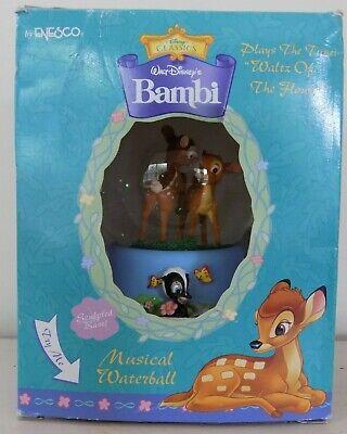 Enesco Disney Classics Bambi Musical Waterball Snowglobe Waltz of the Flowers