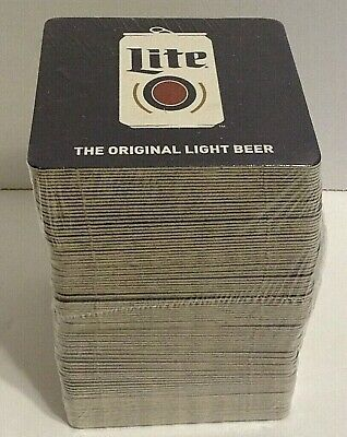"""Miller Lite Lot of 100 Coasters SEALED """"The Original Light Beer"""" Qty Available"""