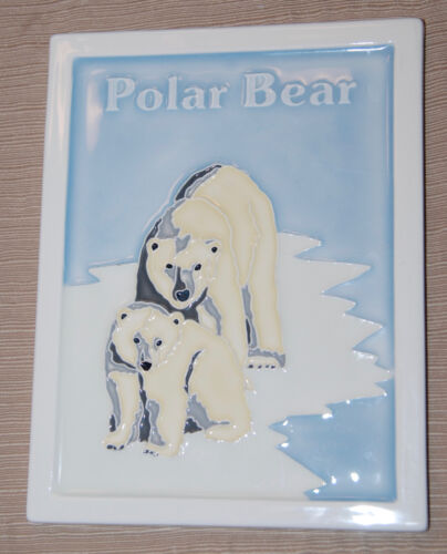 Laguna Clay Co. Tile Endangered polar bearLimited Edition #183/425 1993