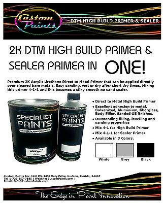 paint and primer in one 2k dtm high build primer white gallon kit inc activator 28456