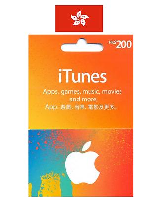 Apple Hong Kong iTunes Gift Card $HK200