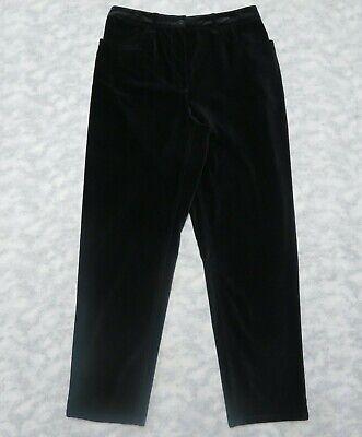 Talbots Stretch Velvet Jeans Pants Size 12P Black