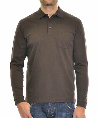 Soft Knit Langarm (RAGMAN Herren RAGMAN langarm Poloshirt Softknit NEU)