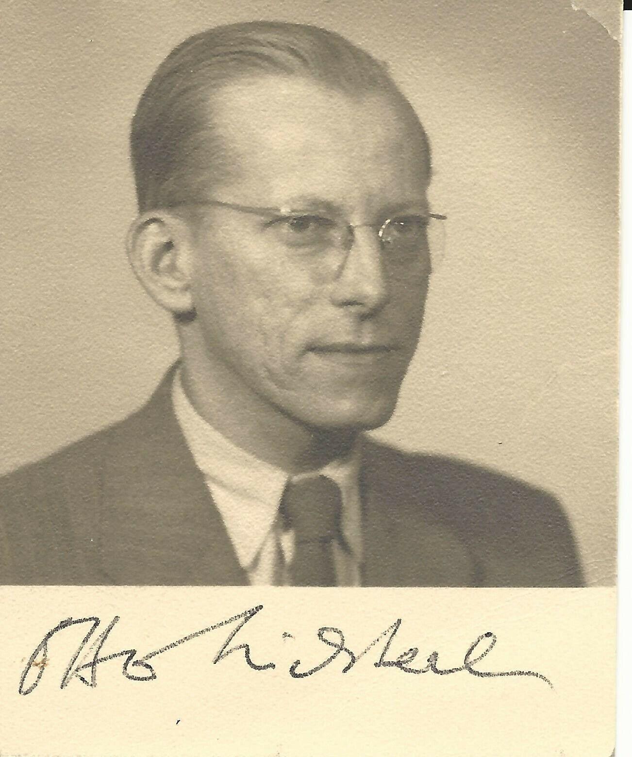 Otto Wichterle tschech.Erfinder d.weichen Kontaktlinse kl.Foto+Originalautogramm