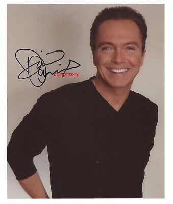 DAVID CASSIDY 8X10 AUTHENTIC IN PERSON SIGNED AUTOGRAPH REPRINT PHOTO RP
