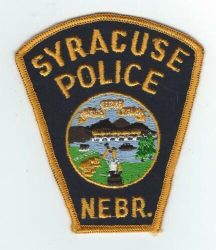 VINTAGE SYRACUSE, NEBRASKA POLICE (CHEESE CLOTH BACK) patch