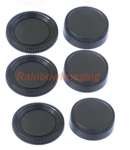 (3 Packs) Rear Lens Cover + Camera Body Cap for Nikon DSLR replaces LF-1 BF-1B