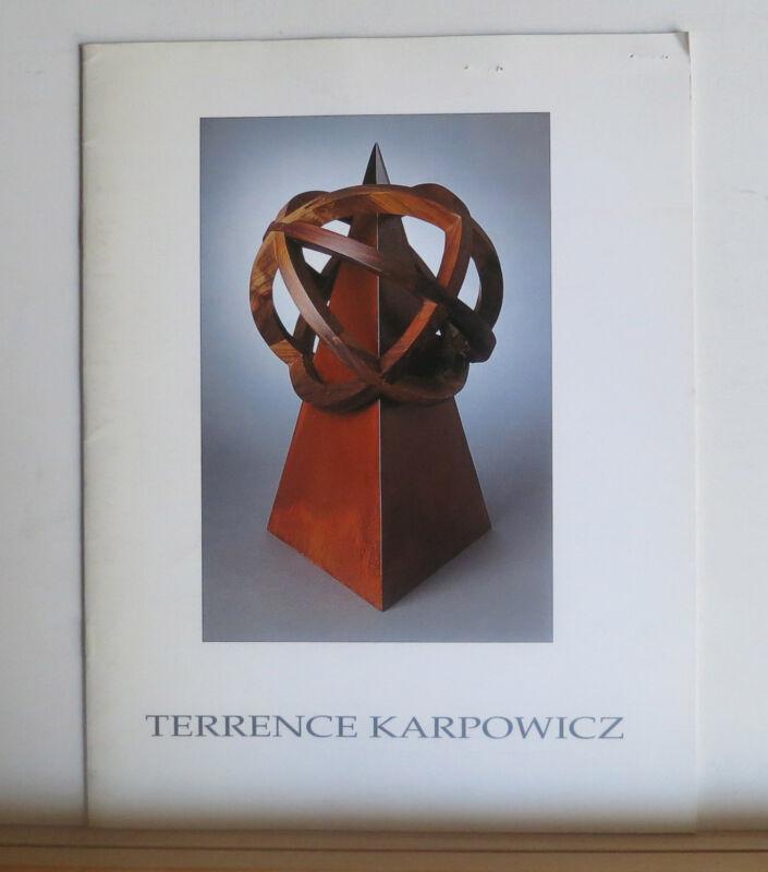 Terrence Karpowicz 1996 Art Wood Sculpture Catalog