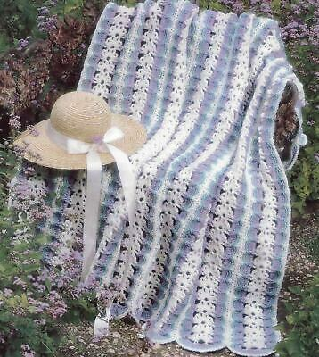 SPRING FANTASY AFGHAN MILE A MINUTE CROCHET PATTERN INSTRUCTIONS  Mile A Minute Crochet