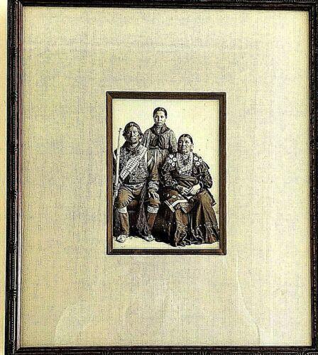 Vintage 1898 Native American Chief Kack Kack Wife Granddaughter Shattonas Photo