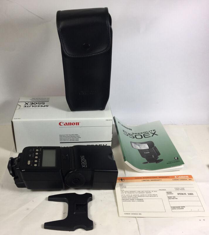 Canon Flash Speedlite 550EX in case and box 90% condition