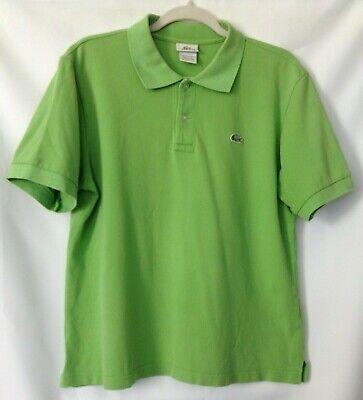 Lacoste Mens Size 5 Green Polo Shirt Short Sleeve -E04