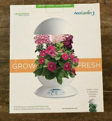 Aerogarden 3 White hydroponic planter Growing system light indoor grow pod type for sale  Shipping to South Africa