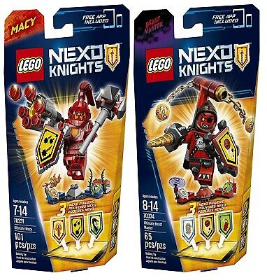 2 Sets LEGO 70331 70334 Nexo Knights Ultimate Macy & Beast Master 6 Shields NEW