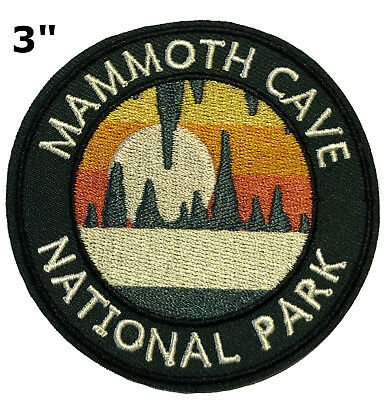 NOMAD Embroidered Patch Iron-On Souvenir Travel Nature National Parks Compass