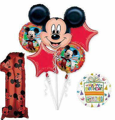Mickey Birthday Decorations (Mickey Mouse Party Supplies 1st Birthday Clubhouse Balloon Bouquet)