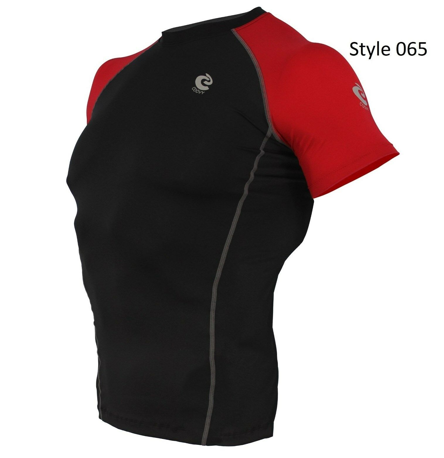 065 Black w/Red Short Sleeve Shirt