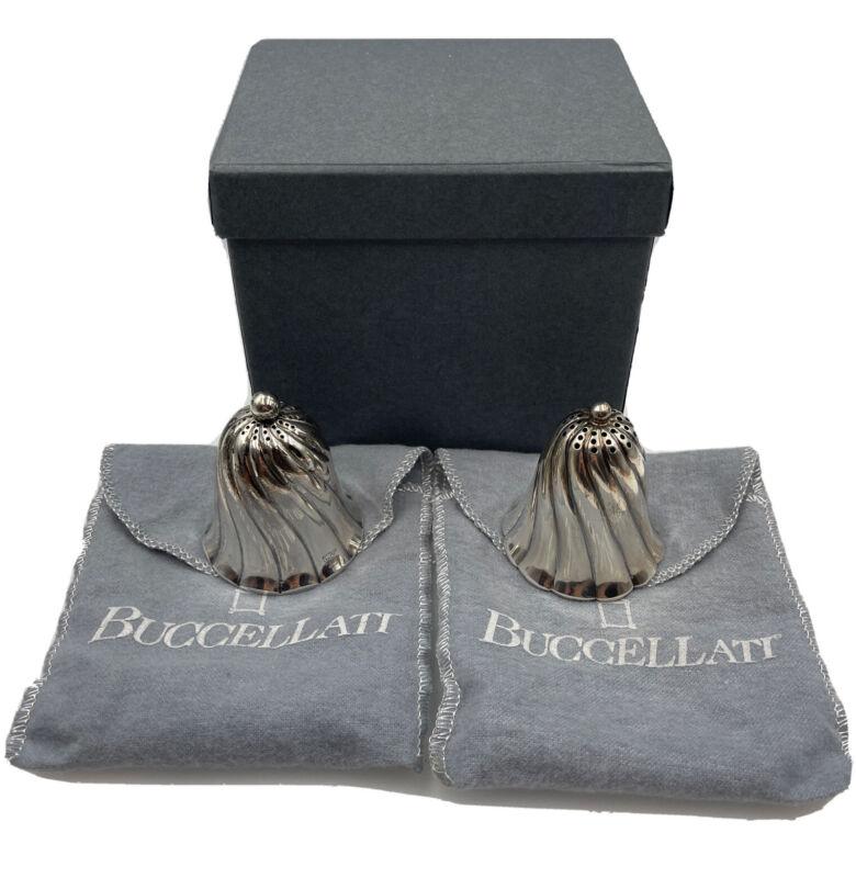 Gianmaria Buccellati Vintage Sterling Silver Pair Salt & Pepper Shakers Set #1