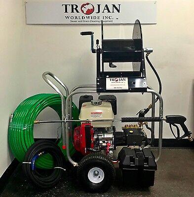 Trojan C4000 Gas Cart Jetter Sewer Cleaning Machine Pressure Washer