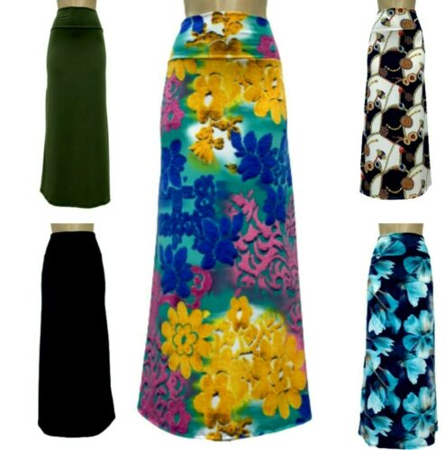 Maxi Skirt Spandex Comfy Floral Designers Prints S-XL**Made in USA**Falda Larga*