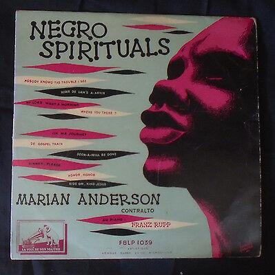 "MARIAN ANDERSON,Negro spirituals.RARE FRENCH 10"" LP(25cm).Gospel train.Franz Rup"