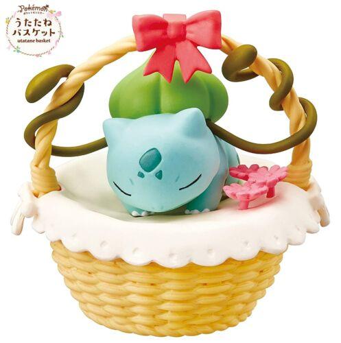 RE-MENT Pokemon Utatane Basket Nap Sleeping Toy Figure #2 Bulbasaur Fushigidane