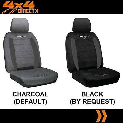 SINGLE R M WILLIAMS SUEDE VELOUR SEAT COVER FOR MITSUBISHI TRITON MR