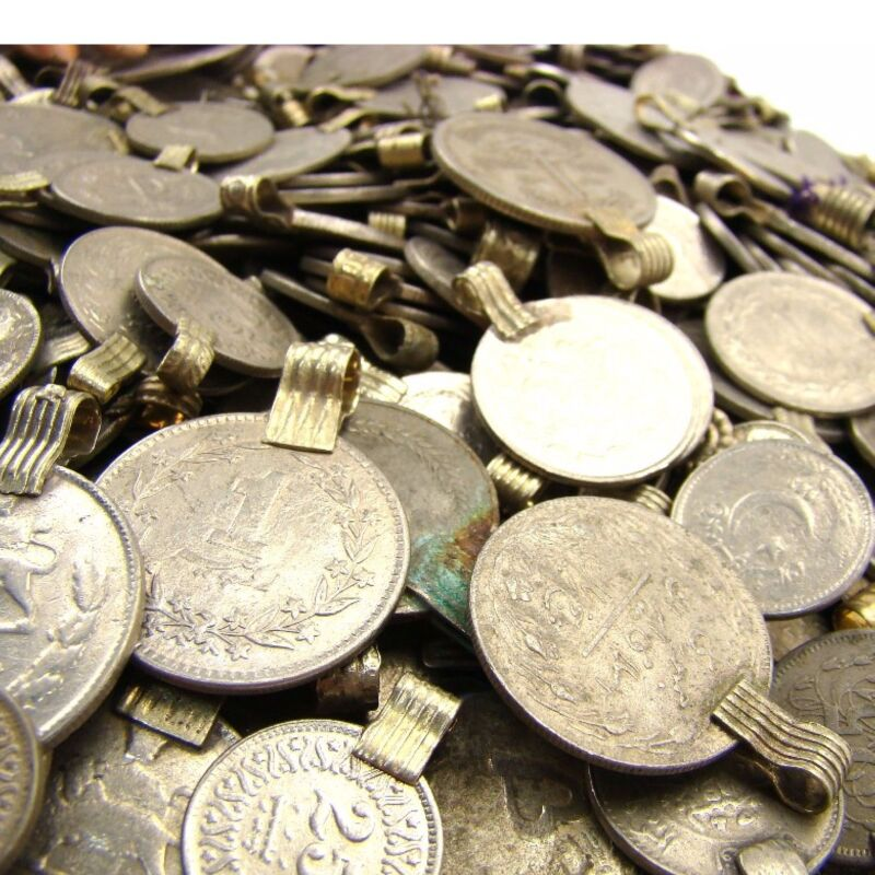 150 real COINS Tribal Belly Dance ATS Kuchi ROUND ((standard unpolished))
