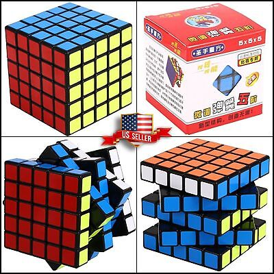 5x5 Speed Smooth Cube Puzzle Rubik Toy Rubix Game Brain Teaser 6 sides