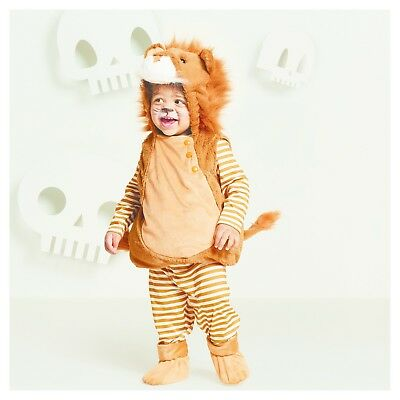 NEW NWT Boys or Girls Baby Lion 0-6 Months 4 Piece Set Vest Booties Pants Top - 6 Month Baby Boy Halloween Costumes